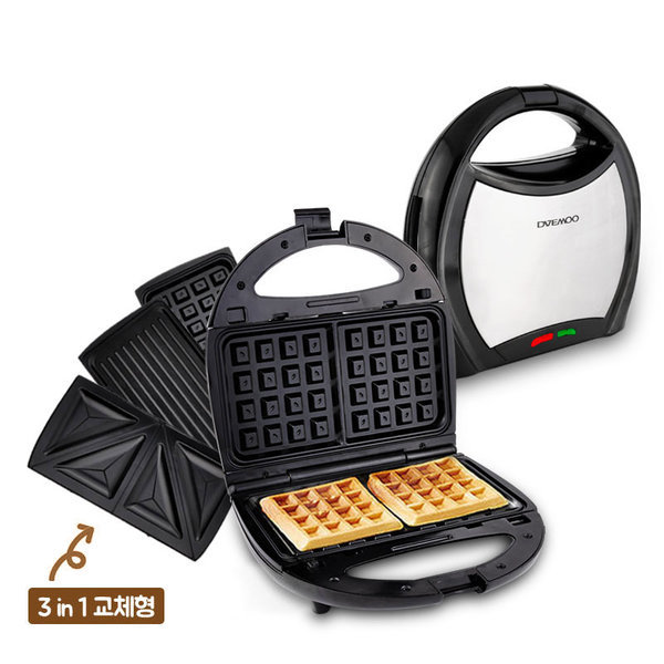 대우 와플메이커 3 in 1(메탈블랙) 분리형 쿠폰 26910