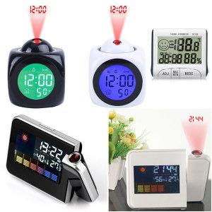 마오르 전자 디지털 시계 온도 습도계