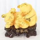 황금돼지가족 인테리어 장식품 장식 소품 인형 조각상