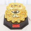 황금 삼족 두꺼비 대 인테리어 장식품 장식 소품 인형