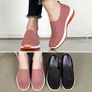 가볍고 푹신한 여성 슬립온 단화 여자 운동화 신발