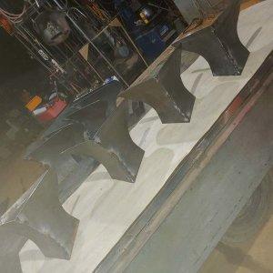 트랙터 배토기날4개(날높이34cm세로42cm날폭43cm)B형