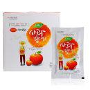 국내산 생사과즙 사과주스 110ml 100포/홍삼먹은영주산