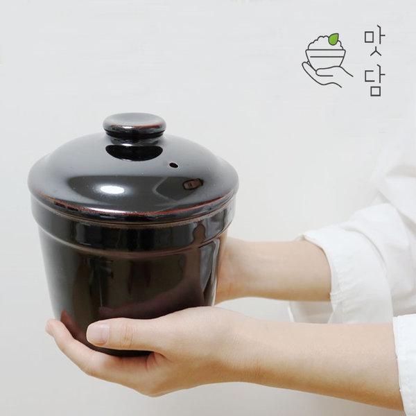 맛담 도자기밥솥 전자렌지용 1~2인용미니밥솥 한끼미인
