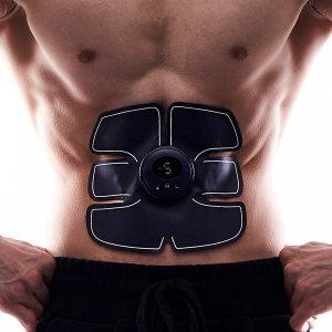 충전형 ems 저주파복근운동기 근육테이프 풀세트 뱃살