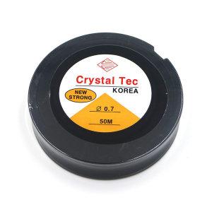 투명 우레탄줄 0.7 50m/팔찌만드는줄/반지재료/고무줄