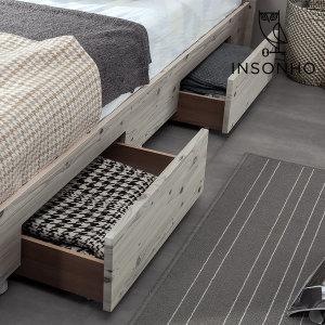 미니멀 서랍 (2개 1세트) + 심플리 침대 전용