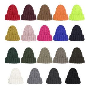 골지 니트 롱비니 남자 여성 꽈배기 겨울 모자