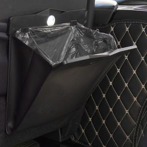 자동차 차량용 뒷좌석 LED  접이식 쓰레기통 휴지통