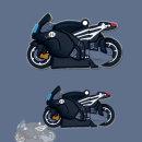 에어팟 1/2 입체 블랙 오토바이 실리콘 케이스 고리형