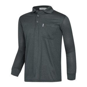 남성 간절기 캐주얼 기능성 긴팔 카라넥 티셔츠 LM-KAA-4801-2-차콜/ 파파브로