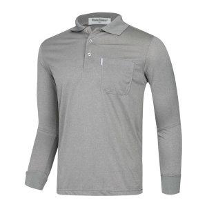 남성 간절기 캐주얼 기능성 긴팔 카라넥 티셔츠 LM-KAA-4801-5-그레이/ 파파브로