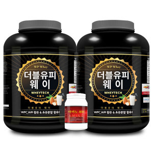 1+1 WP웨이 단백질 헬스보충제 /보충제2통+아미노1통