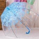 벚꽃 고급 이쁜 투명 비닐 자동 우산 장우산 블루