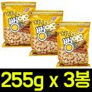 허니 뻥이요 255g x 3봉/스낵/간식안주/브이콘/팝콘