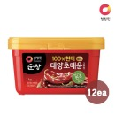 청정원 순창 (현미)매운고추장 1kg x12개 (1box)
