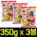 과일맛 롤앤롤 소프트캔디 350g x 3봉/말랑카우/사탕