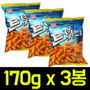 트위스트 170g x 3봉/꿀꽈배기/맛동산/바나나킥/콘칩
