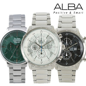 세이코 알바 맨하탄 크로노그라프 남성 손목시계