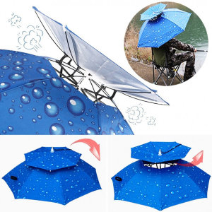 머리에 쓰는 낚시 야외 농사 모자 우산 햇빛가리개