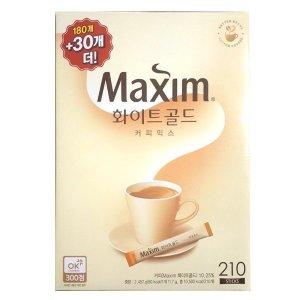 맥심 화이트골드 커피믹스 180t+30t 총 210t 무료배송