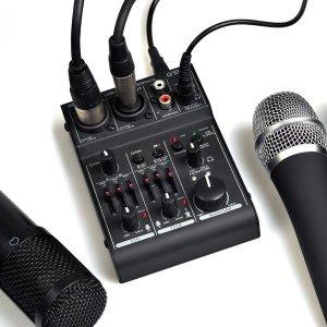 2채널 UMB-MIX2 오디오인터페이스 USB 오디오믹서 48V