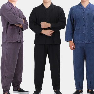 MM202 남자 브이넥 저고리바지세트 개량한복 생활한복