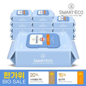 비바체 100매 캡형 물티슈 12팩 스마일배송/무료배송
