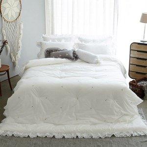한스데코  K 순면 자수침구세트: 이불  침대커버  베개커버