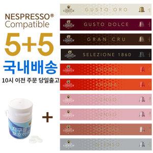 커피비 네스프레소 캡슐 호환 5+5 가리발디 캡슐커피