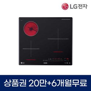 LG DIOS 전기레인지 렌탈 3구 하이브리드 BEY3GTR