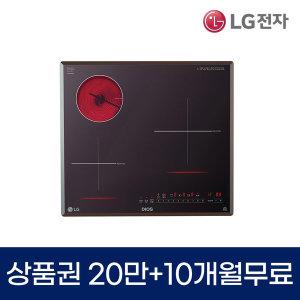LG DIOS 전기레인지 렌탈 3구 하이브리드 미라 BEY3MTR