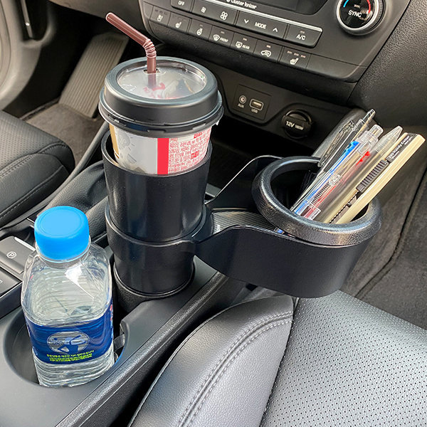 제노믹스 차량용 컵홀더 컵거치대 음료수받침대 포켓