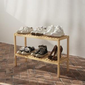 원목 벤치형 신발장 2단 800