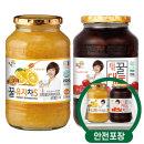 꽃샘 꿀유자차S 1kg + 꿀대추차 1kg /액상차/안전포장