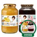 꽃샘 꿀유자차S 1kg + 꿀오미자 1kg /액상차/안전포장