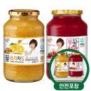 꽃샘 꿀유자차S 1kg + 꿀석류차 1kg /액상차/안전포장