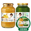 꽃샘 꿀유자차S 1kg + 꿀알로에 1kg /액상차/안전포장