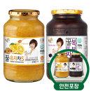 꽃샘 꿀유자차S 1kg + 꿀복분자 1kg /액상차/안전포장