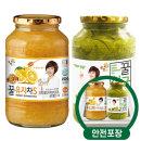 꽃샘 꿀유자차S 1kg + 꿀청귤차 1kg /액상차/안전포장