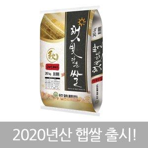 햇빛담은쌀 20kg 20년산 햅쌀 (당일도정)