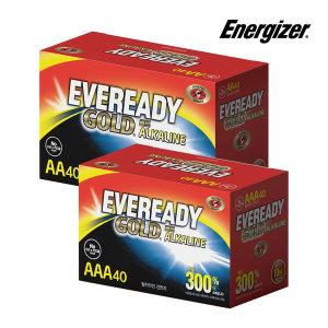 에너자이저 에버레디 알카라인 건전지 AAA 40입x2개