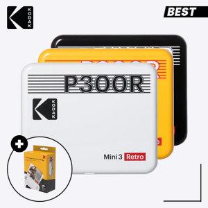 휴대용 포토프린터 미니 3 레트로 P300R 블랙+60매