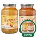 담터 꿀유자차A 1kg + 꿀생강차A 1kg /액상차/안전포장