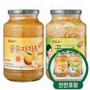 담터 꿀유자차A 1kg + 꿀모과차 1kg /액상차/안전포장