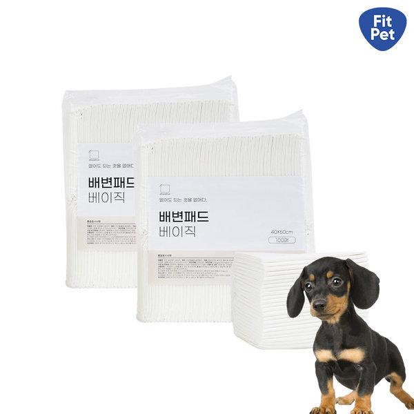 가성비 갑 강아지 배변패드 무무 베이직(100매)x2