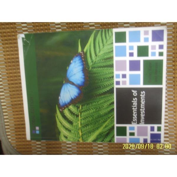 헌책/ 외국판 McGrawHill / Essentials of Investments 9판 / Bodie. Kane. Marcus -사진.꼭 설명란참조