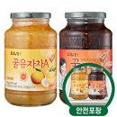 담터 꿀유자차A 1kg + 꿀대추차 1kg /액상차/안전포장