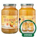 담터 꿀유자차A 1kg + 꿀한라봉차 1kg /꿀차/안전포장