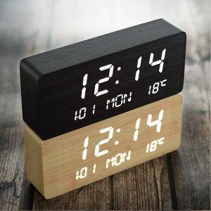 우드 데이트 인테리어 탁상시계+아답터